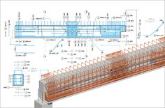 Building Information Modeling (BIM) is a part of every project that shows how structural building and infrastructure systems are designed and built. But there is a reinforced concrete industry that is lagging behind structural. Civil Engineering Software, Civil Engineering Design, Civil Engineering Construction, Bridge Construction, Construction Tools, Structural Drawing, Structural Analysis, Beam Structure, Concrete Structure