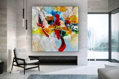 Large Office Wall Art Modern Abstract Art Abstract Painting image 2 Abstract Canvas Art, Wall Canvas, Texture Painting, Large Painting, Extra Large Wall Art, Office Wall Art, Modern Wall Art, Shades, Display