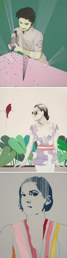 On the blog today: embroidered works by Aníbal Vallejo http://www.artisticmoods.com/anibal-vallejo/