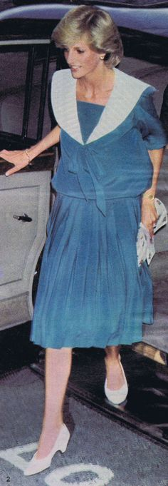 July 20, 1983: Princess arriving at London's Dominion Theatre to attend the Duran Duran Concert in aid of the Prince's Trust.
