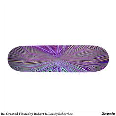 Re-Created Flower by Robert S. Lee Skate Board Deck Re-Created Elements by Robert S. Lee Skateboard Deck #Robert #S. #Lee #skateboard #board #decks #skater #design #colors #customizable #re-created