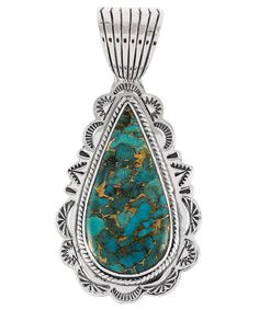 Turquoise Network - Sterling Silver Pendant Matrix Turquoise P3094-C84, $45 (http://turquoisenetwork.com/sterling-silver-pendant-matrix-turquoise-p3094-c84/)