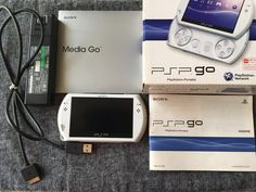 PSP go PlayStation portable go Pearl White with cable japan F/S Playstation Portable, Nintendo Switch Games, Technology Design, Gaming Setup, Video Game Art, Garage Ideas, Psp, Pearl White, Games To Play
