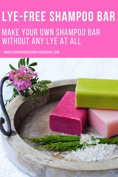 No lye, and no melt and pour soap base. Make your own shampoo bar without any lye at all. Most recipes either use lye, or use pre-made melt and pour soap bases which contain lye. This recipe is lye free - all natural ingredients. Lush Shampoo Bar, Diy Shampoo, Homemade Shampoo, Solid Shampoo, Organic Shampoo, Natural Shampoo Recipes, How To Make Shampoo, Diy Cosmetic, Coconut Milk Shampoo