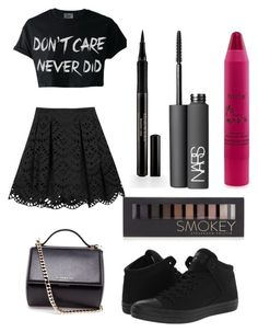 """""""Untitled #215"""" by awesome3000 ❤ liked on Polyvore featuring Alice + Olivia, Converse, Givenchy, Elizabeth Arden, NARS Cosmetics, Forever 21 and tarte"""
