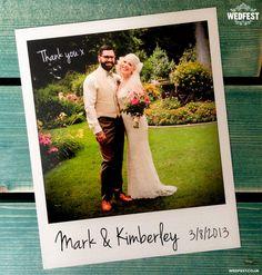 Wedding. Cool Instagram Wedding Thank You Card Design Ideas Polaroid Wedding Thank You Card Sample.