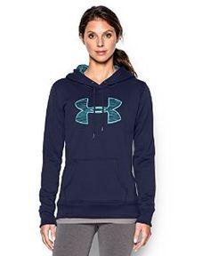 f487c722c53a Amazon.com  Under Armour Women s UA Storm Armour® Fleece Printed Big Logo  Hoodie Small BLUE KNIGHT  Sports   Outdoors