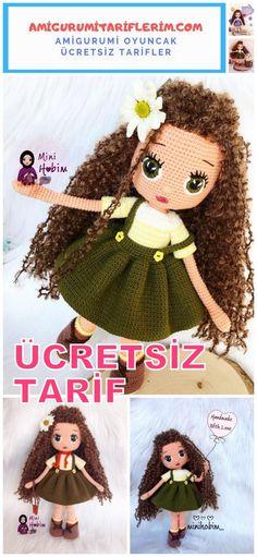 Crochet Teddy Bear Pattern, Crochet Dolls Free Patterns, Crochet Doll Pattern, Crochet Bunny, Baby Knitting Patterns, Amigurumi Patterns, Crochet Toys, Hamster, Maya