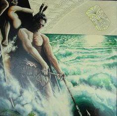 maui and the sun myth World Mythology, Fairy Tales, Legends, Tattoo Ideas, Spirituality, Heaven, Sun, Google Search, Painting