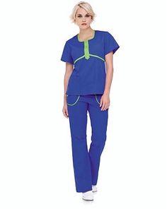 Urbane Scrubs 9549 Empire Placket Tunic   Medical Scrubs Collection  @ $25 Ceil / Navy