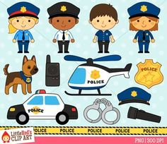 Police clip art by Little Red's Schoolhouse $