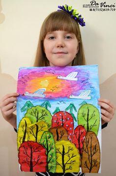 Одноклассники Drawing For Kids, Painting For Kids, Art Lessons For Kids, Art For Kids, Crafty Kids, Autumn Art, Art Lesson Plans, Halloween Art, Art Plastique