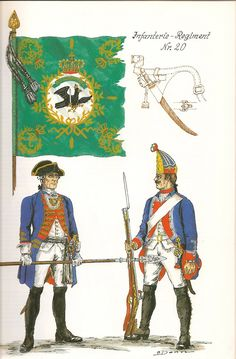 Prussia; Infantry Regiment Nr.20, c.1750 by G.Donn
