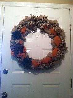 Safari Burlap Wreath Leopard Wreath by ElsiesCreativeDesign