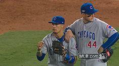 New party member! Tags: mlb baseball yeah cubs chicago cubs nlcs game 5 cubbies baez javier baez javi baez reversed call call reversed