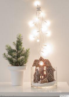 piparkakkukaupunki,piparkakut,jouluvalot,Tee itse - DIY