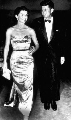 Senator and Mrs. Kennedy in 1956