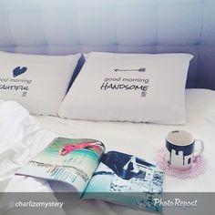 #poszewki #charlizemystery #goodmorningbeautiful #goodmorninghandsome #bed