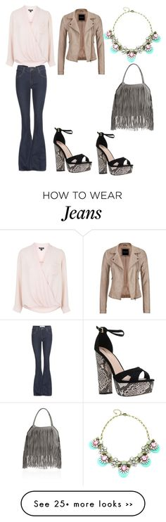 """""""Flare jeans"""" by adeane on Polyvore featuring dVb Victoria Beckham, STELLA McCARTNEY, Topshop, maurices and Miss KG"""