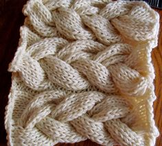crochet fake KNIT CABLES - Google Search