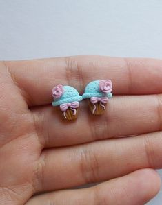 Made of polymer clay. Handmade by a German artist who loves to mold clay into jewelry. Each earring is about Great gift for animal lovers. Ships from USA! Polymer Clay Animals, Cute Polymer Clay, Polymer Clay Beads, Brooches Handmade, Handmade Jewelry, Handmade Gifts, Clay Projects, Clay Crafts, Gifts For Dentist