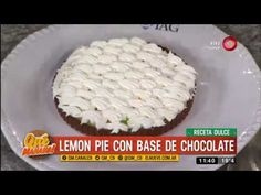 Receta dulce: lemon pie con base de chocolate