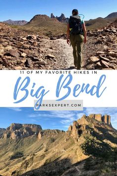 Whether you want to see desert, mountains, or rivers, Big Bend has it all. Here are our favorite Big Bend National Park hikes from easy to strenuous. | Big Bend National Park Hikes | Hikes in Big Bend | #bigbend #bigbendnationalpark