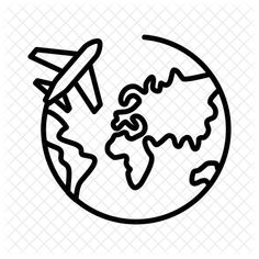 Around Icon like symbol png Airplane Icon, Airplane Drawing, World Icon, Travel Icon, Travel Trip, Globe Vector, Wine Logo, Png Icons, Simple Doodles