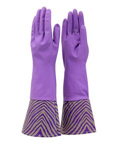 Take a look at this Pearl Zebra Cleaning Gloves by Tango on #zulily today!