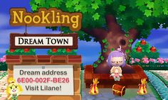 Nookling Junction ★ Animal Crossing blog , DREAM ADDRESS UPDATED (january 2017) Lilane got updated for the Welcome Amiibo update! For those who wanted my main paths you can finally visit and get them now. If you like any of the other paths you can get them here! Come visit my new updated town!  ♡Dream address:  6E00-002F-BE26 #animal crossing #new leaf #welcome amiibo #dream town #dream address #lilane #gif