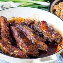 Sticky, Slow-Cooked Pork Ribs - Nicky's Kitchen Sanctuary