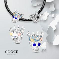 Skull With Pearls Charm, find here:https://www.gnoce.com/charm/skull.html?utm_source=pinterest.com&utm_medium=pageL&utm_campaign=0822-2