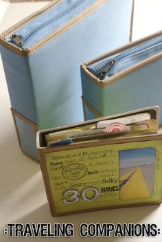 Mini album that you do DURING the road trip.  MAKE A JOURNAL KIT TO TAKE WITH YOU