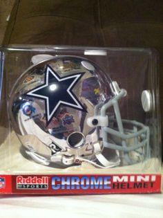2000 Riddell Chrome Mini Helmet, Dallas Cowboys, Limited Edition