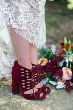 #weddingshoes #maroonshoes @weddingchicks
