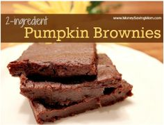 Two-Ingredient Pumpkin Brownies
