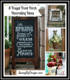 Get your front porch (or any outdoor area really) ready for summer fun with these creative frugal ideas! | SavingByDesign.com