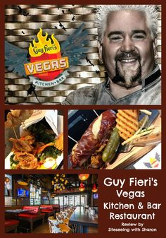 Guy Fieri's Vegas Kitchen & Bar Restaurant Review Sightseeing With Sharon