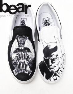 Custom Vans Hand Painted Shoes Batman and Bane by BearGallery