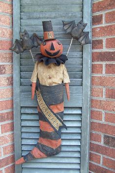 Pumpkin Jack ....in Stocking! You'll love this one.Price for e-pattern $10.....contact me at thesmilinggoat1@yahoo.com
