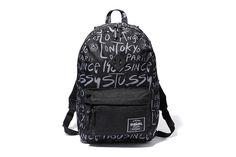 herschel x stussy backpack // #blackandwhite #streetwear