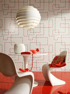 Panton Chairs and Wallpaper Design