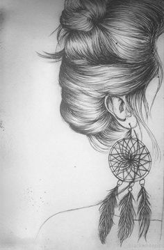 Ideas For Drawing Ideas For Teens Pencil Illustrations Girl Drawing Sketches, Pencil Art Drawings, Cute Drawings, Drawing Ideas, Hipster Drawings, Hipster Art, Girl Drawings, Girl Sketch, Drawings Of Hair