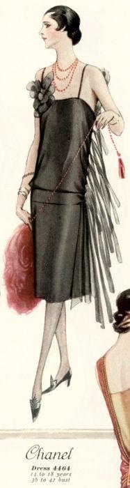 Chanel dress. McCall 4464, Summer 1926