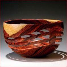 Turned Wood - Artist: John Beaver.