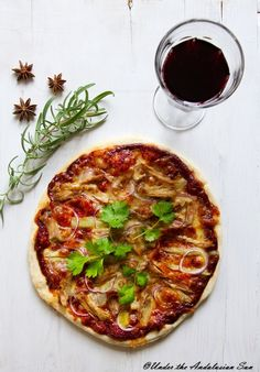 Duck confit, fennel and red onion - how's that for a pizza :-)!
