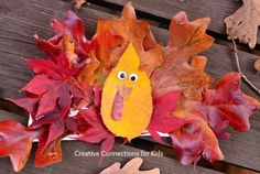 Leaf Turkey ~ A turkey craft for Thanksgiving. Simple!