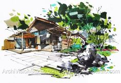 landscape drawing   Landscape Rendering