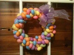 Easter egg wreath for Noelle. It's my 4th one. I'm getting better!