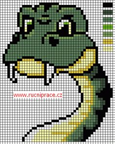 snake cross stitch pattern